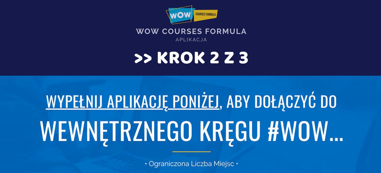 jak sprzedawać kurs online aplikacja WOW Courses Formula