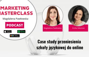 Case study przeniesienia szkoły językowej do online - gość Emilia Nikoniuk