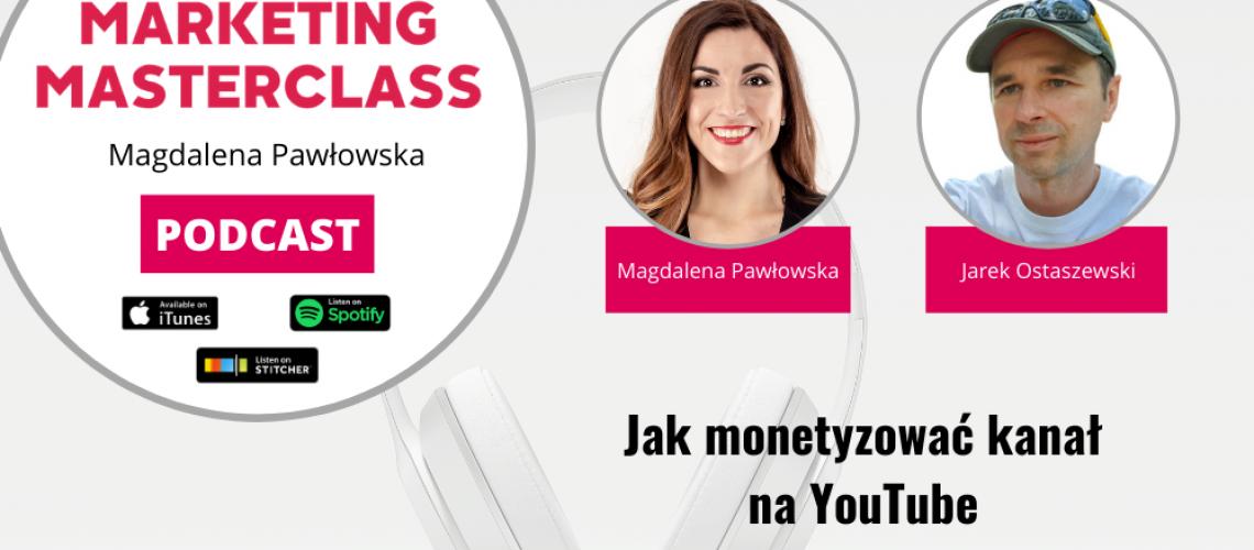 Jak monetyzować kanał na YouTube – gość Jarek Ostaszewski