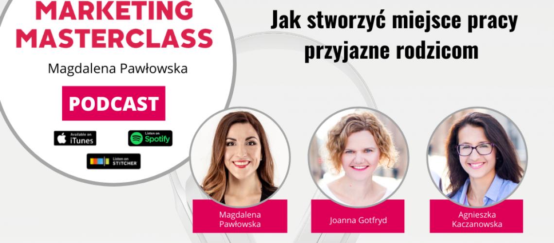 Jak stworzyć miejsce pracy przyjazne rodzicom – goście Joanna Gotfryd i Agnieszka Czmyr-Kaczanowska