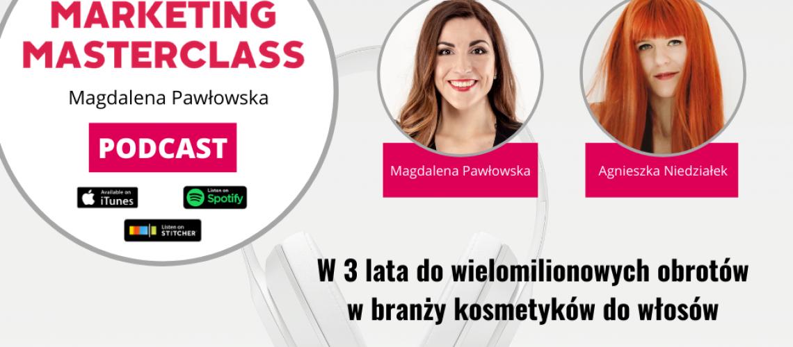 W 3 lata do wielomilionowych obrotów w branży kosmetyków do włosów – gość Agnieszka Niedziałek