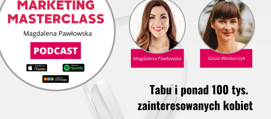 Temat tabu i ponad 100 tys. zainteresowanych kobiet – gość Gosia Włodarczyk
