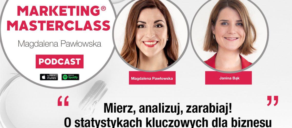 Mierz, analizuj, zarabiaj! O statystykach kluczowych dla rozwoju twojego biznesu – gość Janina Bąk