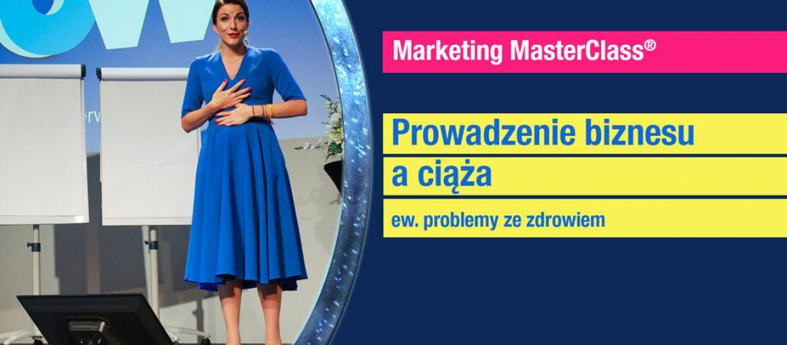 Odcinek podcasy Marketing MasterClass Prowadzenie biznesu w ciąży
